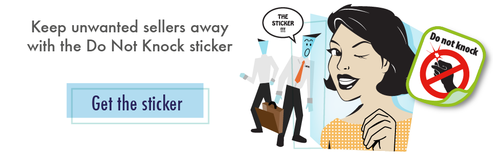 Keep unwanted sellers away with the Do Not Knock sticker