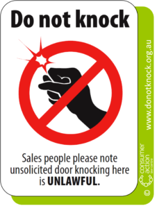 Do Not Knock Sticker